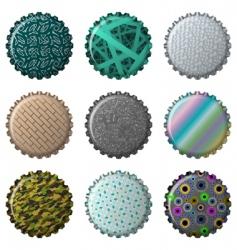 textured bottle caps vector image