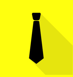 Tie sign black icon with flat style vector