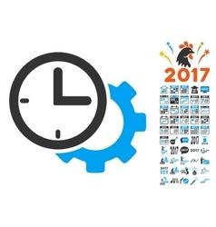 Time Setup Gear Icon With 2017 Year Bonus vector