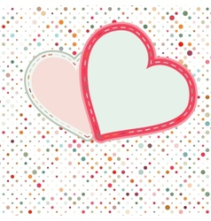 Valentine pattern with hearts EPS 8 vector image