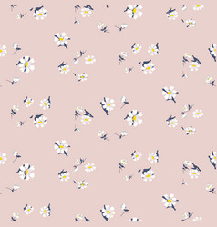 Vintage small simple flowers seamless vector