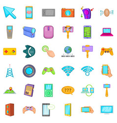 Web money icons set cartoon style vector