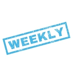 Weekly Rubber Stamp vector
