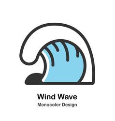 Wind wave monocolor vector