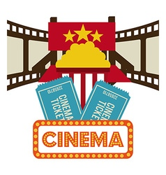 Cinema icons design vector image