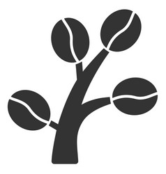 coffee tree flat icon vector image vector image