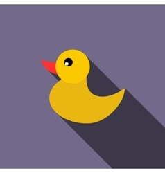 Duckling for a child icon flat style vector image