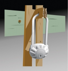 garage lock vector image