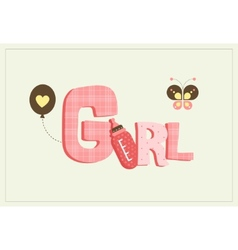 girl card vector image