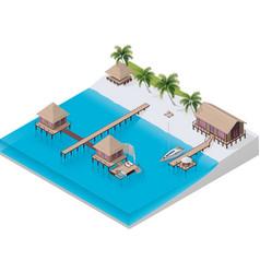 isometric tropical resort vector image vector image