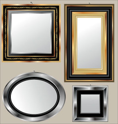 mirrors vector image vector image