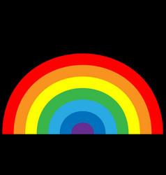 rainbow icon cartoon isolated black background vector image vector image