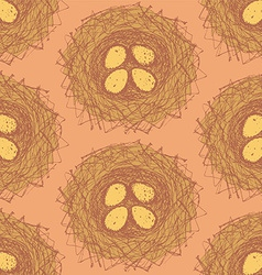 Sketch nest in vintage style vector image