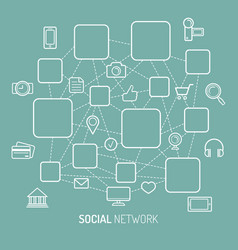 social network internet vector image