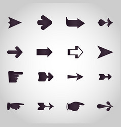 arrows logo design icon set vector image vector image