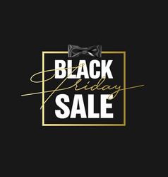 black friday sale gold banner luxury black vector image vector image