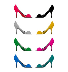 female shoes vector image vector image