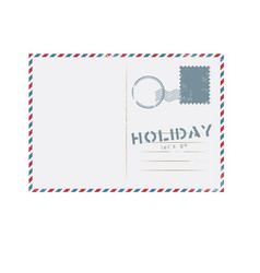 holiday lets go postcard background image vector image