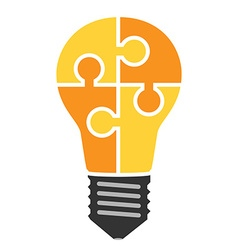 Lightbulb of puzzle pieces vector image