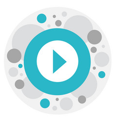 of cinema symbol on play icon vector image