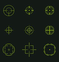 sniper sight symbol crosshair target set of icons vector image
