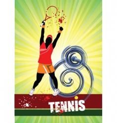 woman's tennis vector image vector image