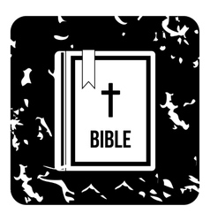 Bible icon grunge style vector image
