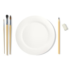 Dinner placemats for a painter vector image