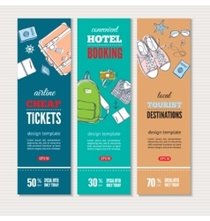 Travel banners set vector