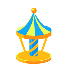 Blue and yello merry-go-round fairy tale candy vector