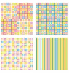 four of abstract pattern backgrounds vector image vector image