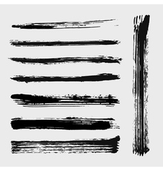 Set of grungy brushes vector image vector image