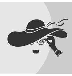 Woman in a Hat Symbol vector image vector image