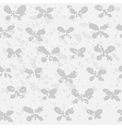 Abstract butterfly on spotted background vector