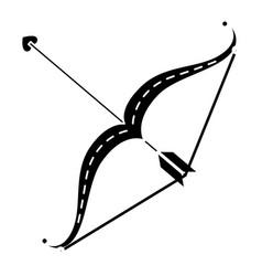 Arrow bow isolated icon vector