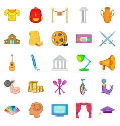 Art skill icons set cartoon style vector