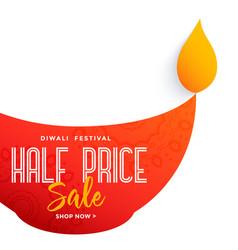 big diya design for diwali festival sale vector image