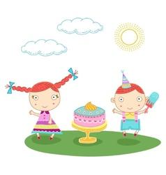 Birthday kids vector