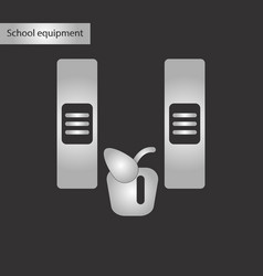 Black and white style icon of folders apple vector