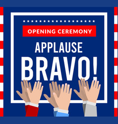 bravo with applause on background vector image