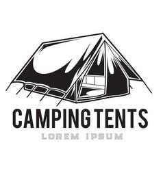 Camping vintage tent adventure outdoor logo 10 vector