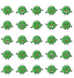 cartoon monsters smilies set vector image