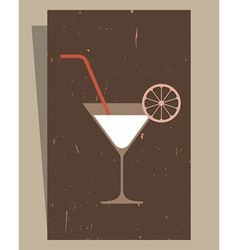 Cocktails Menu Card Design vector