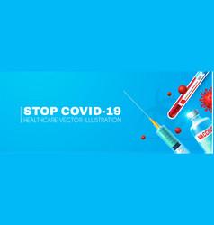 Coronavirus background vaccine realistic glossy vector