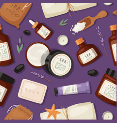 cosmetics spa branding pack mockup natural body vector image