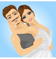 Couple of ballet dancers posing vector