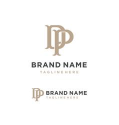 Creative modern initial letter dp icon logo vector