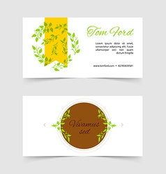 Design template cards vector image vector image