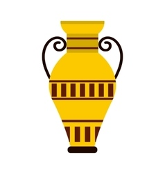 Egyptian vase icon flat style vector image