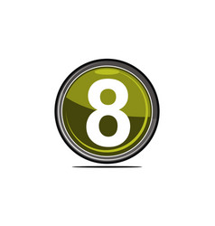 eight logo design template vector image